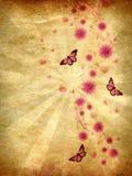 Орнамент Grunge розовый с цветками бесплатная иллюстрация