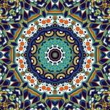 Орнамент mehndi Tracery этнический Равнодушный небезрассудный утихомиривая мотив, годный к употреблению doodling красочный гармон Стоковые Изображения RF