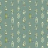 Орнамент Minimalistic безшовный флористический Стоковая Фотография