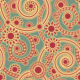 орнамент paisley безшовный Стоковое фото RF