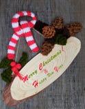 Орнамент Xmas, связанное pinecone рождества Стоковое Фото