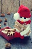 Орнамент Xmas, handmade, рождество, снеговик Стоковое фото RF