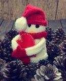 Орнамент Xmas, handmade, рождество, снеговик Стоковые Изображения RF