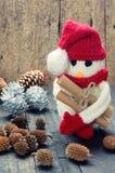 Орнамент Xmas, handmade, рождество, снеговик Стоковые Изображения
