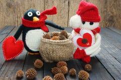 Орнамент Xmas, handmade, рождество, снеговик Стоковая Фотография RF