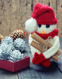 Орнамент Xmas, handmade, рождество, снеговик Стоковые Фото