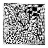 Орнамент Zentangle, эскиз для вашего дизайна Стоковая Фотография