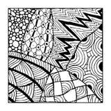 Орнамент Zentangle, эскиз для вашего дизайна Стоковая Фотография RF