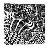Орнамент Zentangle, эскиз для вашего дизайна Стоковые Изображения RF