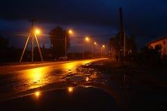 дорога вечера Беларуси Стоковая Фотография