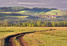 дорога гор к Стоковые Изображения RF