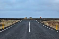 дорога Исландии Стоковые Изображения