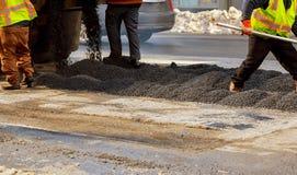 дорога конструкции вниз улица york города новая Стоковые Фотографии RF