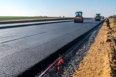 дорога конструкции новая Стоковое Изображение