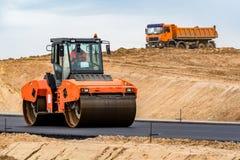 дорога конструкции новая Стоковая Фотография RF