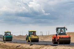 дорога конструкции новая Стоковые Изображения