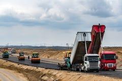 дорога конструкции новая Стоковое фото RF