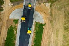 дорога конструкции новая Стоковая Фотография