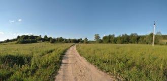 дорога к селу Стоковая Фотография