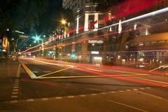 дорога ночи драмы рисуночная трясет небо Стоковые Фото