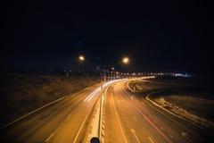 дорога ночи драмы рисуночная трясет небо Стоковые Изображения RF