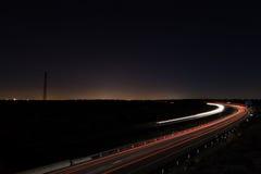 дорога ночи драмы рисуночная трясет небо Стоковые Изображения