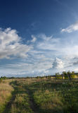 дорога сельской местности пустая Стоковое Фото