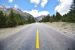дорога Тибет Стоковая Фотография