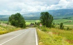 дорога Тоскана стоковое фото