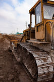 дорога тяжелого машинного оборудования конструкции Стоковое Изображение