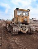 дорога тяжелого машинного оборудования конструкции Стоковые Фото