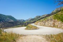 дорога Хорватии Стоковая Фотография