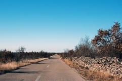 дорога Хорватии Стоковые Фотографии RF