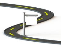 дорога 3D с белым ярлыком Стоковые Фотографии RF
