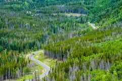 дорога rockies Стоковое Фото