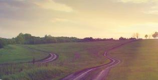 2 дороги среди лугов Стоковое фото RF