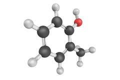 Орто-крезол, также известный как methylphenol 2, бесцветное твердое тело Стоковая Фотография
