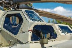 Оружие воздушных судн установленное на воинский вертолет Стоковая Фотография RF