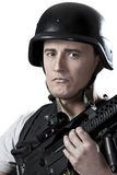 оружие вооруженного cask воинское защитное стоковая фотография rf