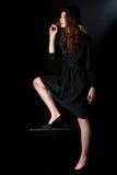 Оружие девушки фильма noir Стоковые Фотографии RF