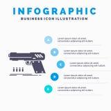 оружие, личное огнестрельное оружие, пистолет, стрелок, шаблон Infographics оружия для вебсайта и представление r бесплатная иллюстрация