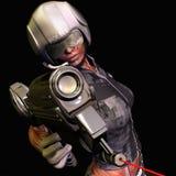 оружие полиций офицера лазера Стоковые Изображения RF