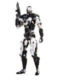 Оружие футуристической полиции робота armored mech стоковое фото rf
