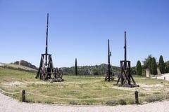 Оружие Trebuchet средневековое Стоковое фото RF