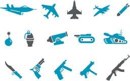 оружия иконы установленные иллюстрация штока