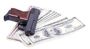 Оружия и предпосылка денег Стоковые Фотографии RF