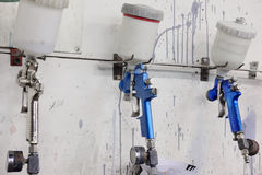 Оружи брызга на стене Стоковое фото RF