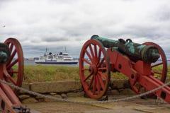 Оружи замка Kronborg в Дании Стоковые Изображения RF