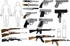 Оружи и винтовки иллюстрации Стоковое Изображение RF