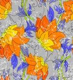 орхидеи делают по образцу безшовное Стоковое Изображение RF